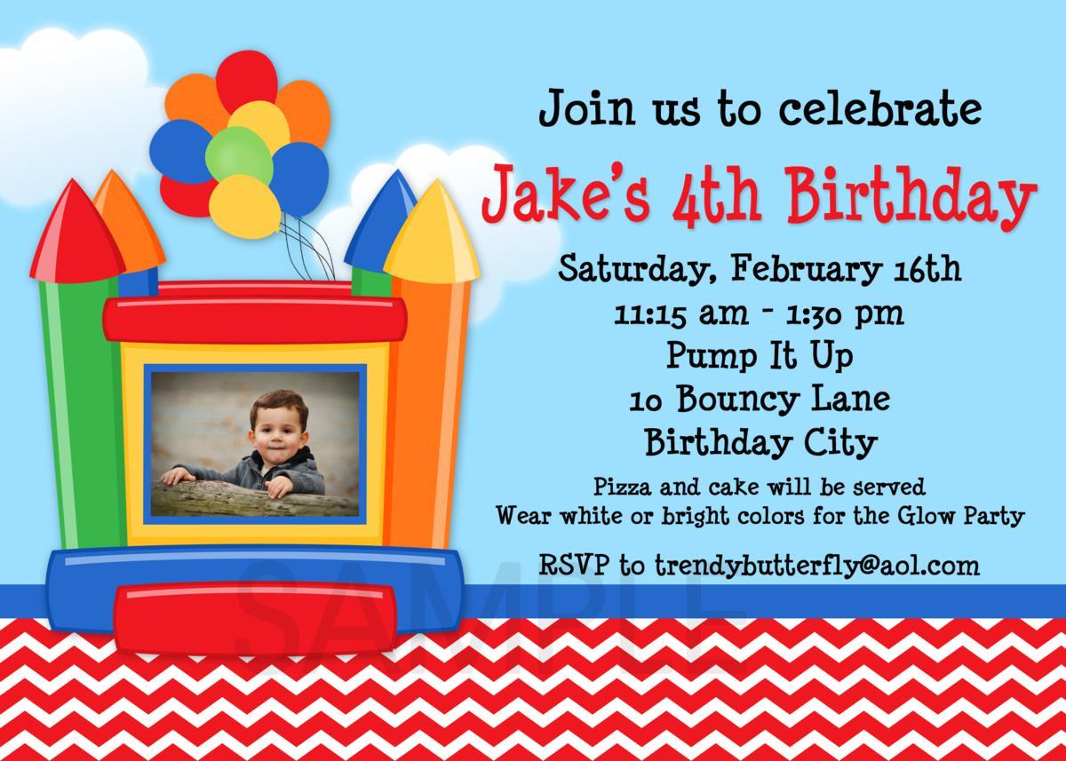 Awesome 4th Birthday Invitation Wording Ideas - Invitation Card ...
