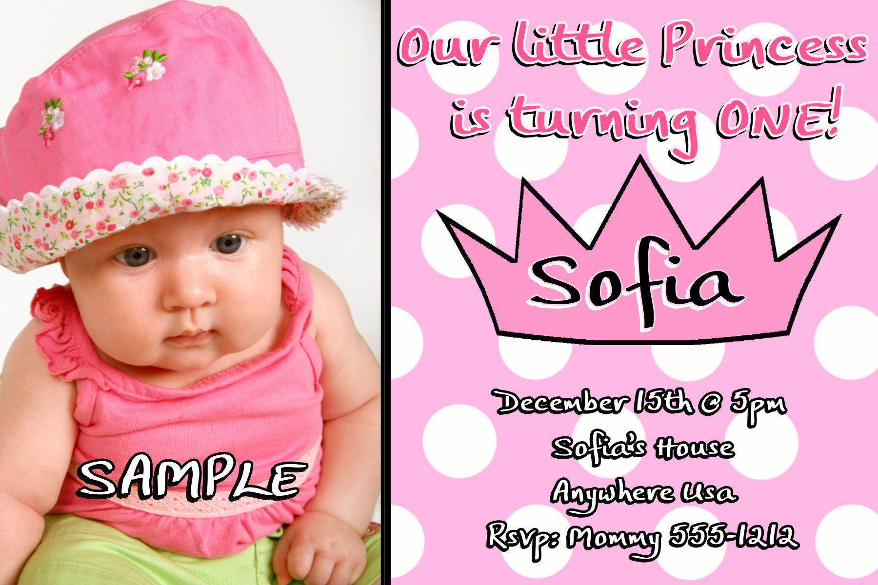 1st Bday Invitations Card Samples – What to Write on a First Birthday Card