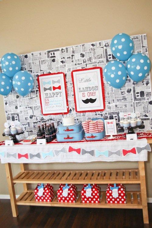 1st Birthday Mustache Party Invitations