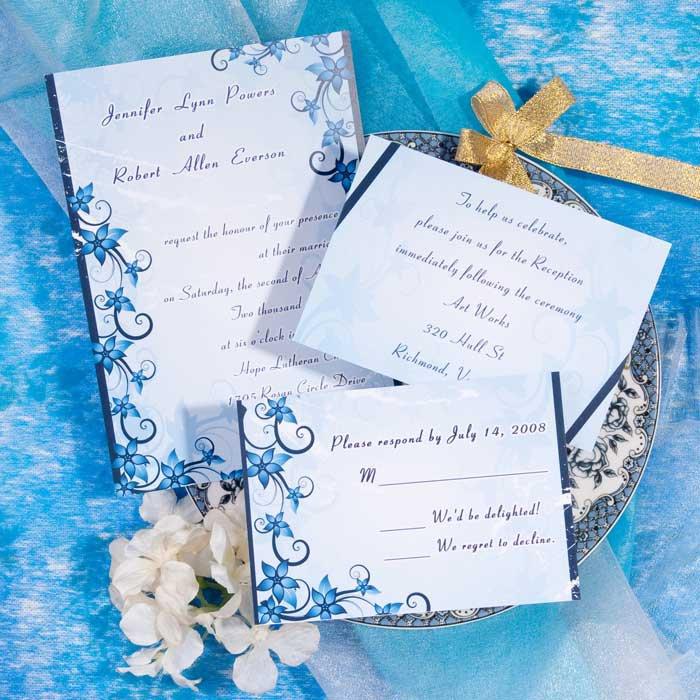 2013 Malibu Color Wedding Invitation