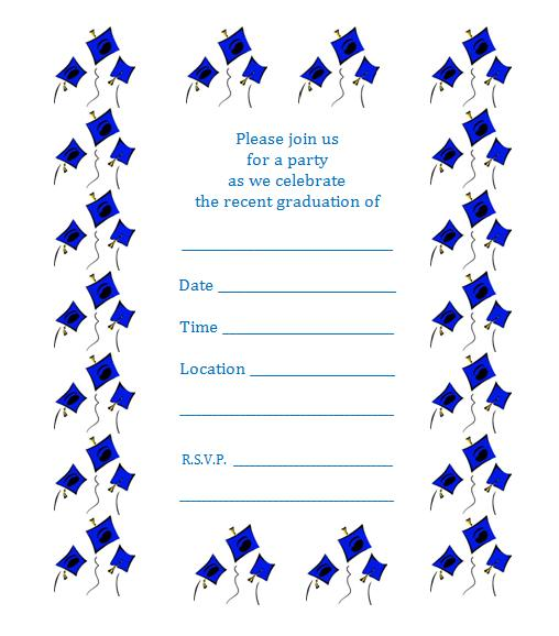 2015 Graduation Party Invitations Blank