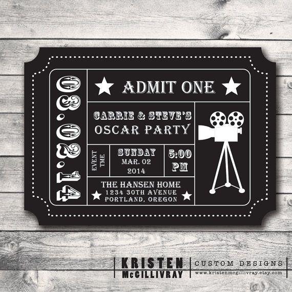 2015 Oscar Party Invitations