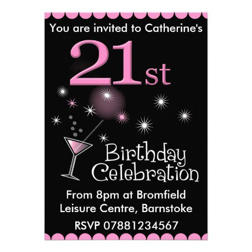 21st Birthday Invitation Ideas