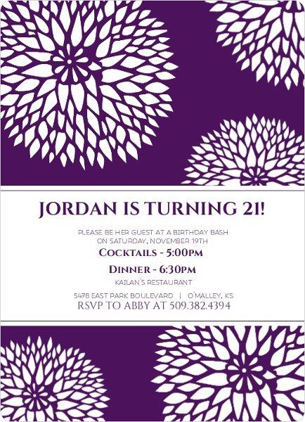 21st Birthday Invitation Ideas Pinterest