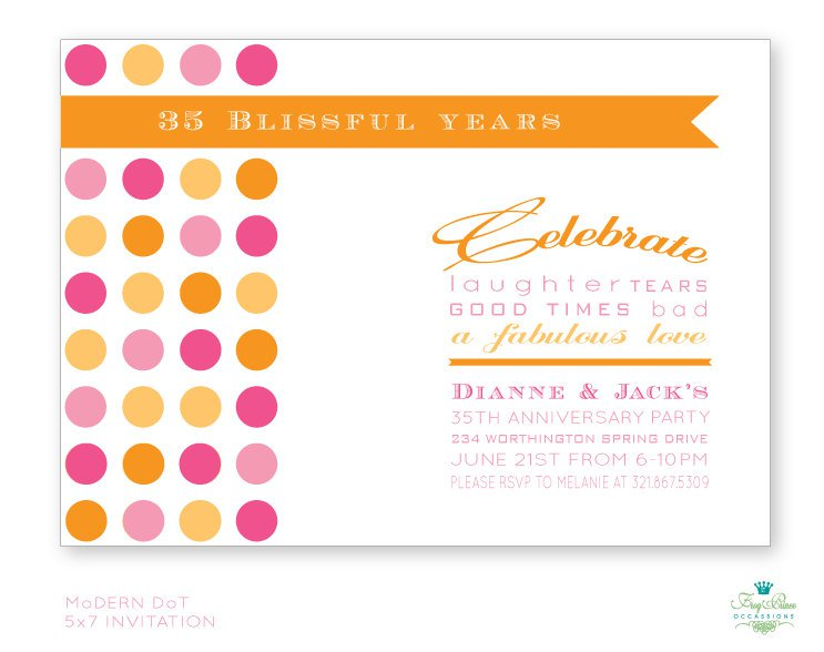 25th Anniversary Invitations Templates Printable