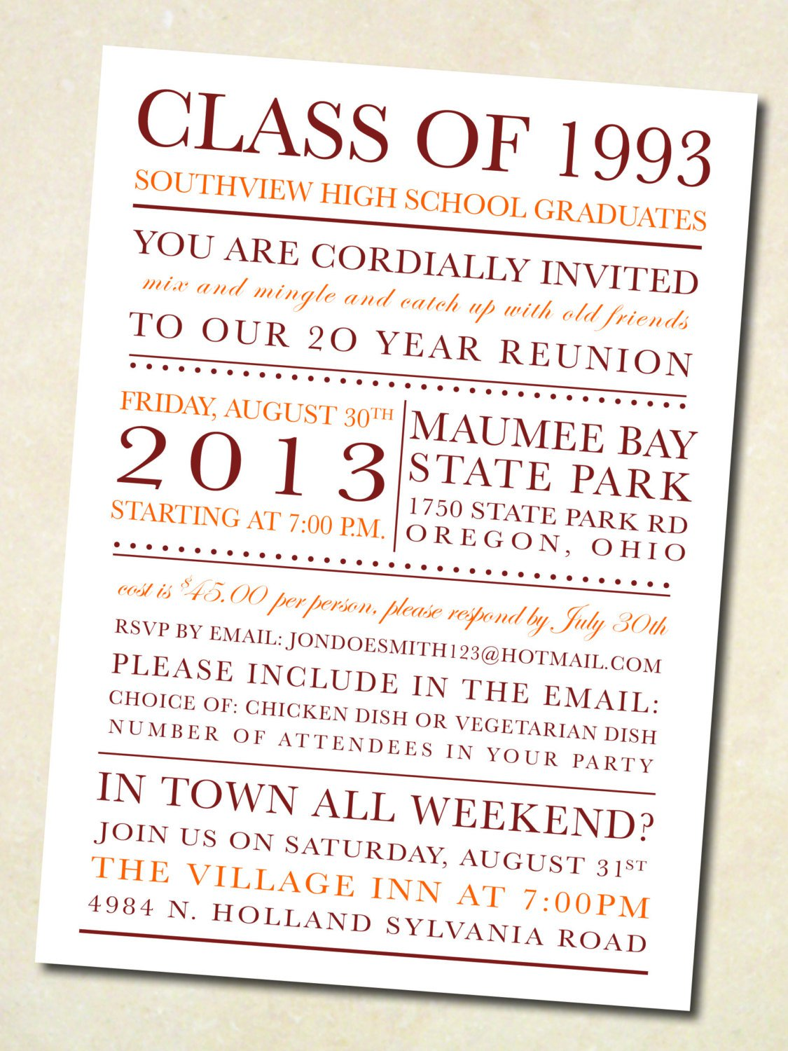 Class reunion invitation templates free free custom invitation class reunion invitation templates free stopboris Images