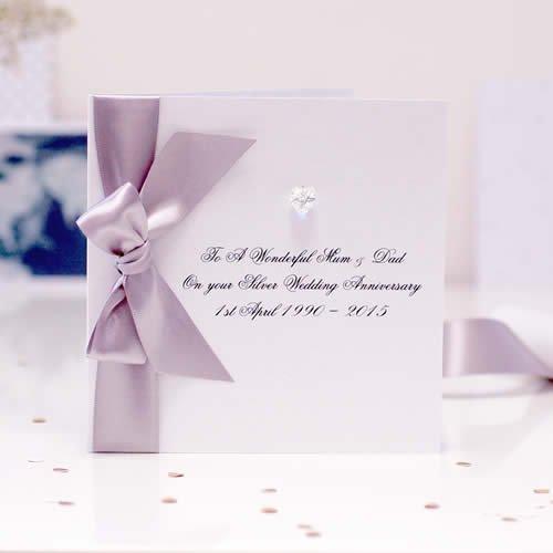 25th Silver Wedding Anniversary Invitation Cards