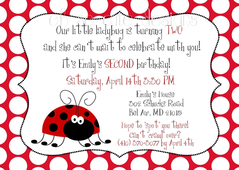 2nd Birthday Party Invitation Wording