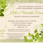30th Wedding Anniversary Invitation Wording