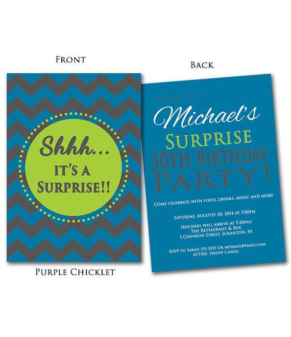 30th Surprise Birthday Invitations Printable