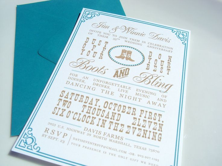 35th Business Anniversary Invitations
