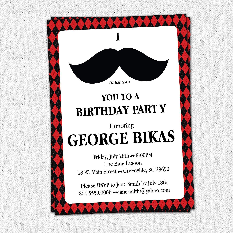 Male th Birthday Surprise Invitations