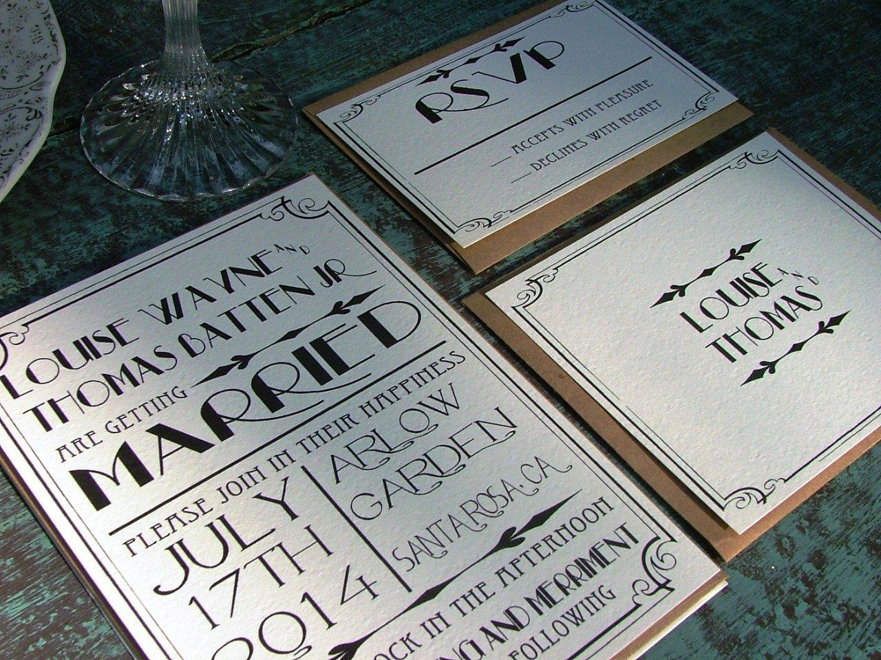 39;s Vintage Wedding Invitations