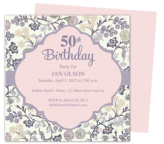 40 Birthday Party Invitations