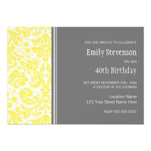 40th Birthday Party Invitation Ideas