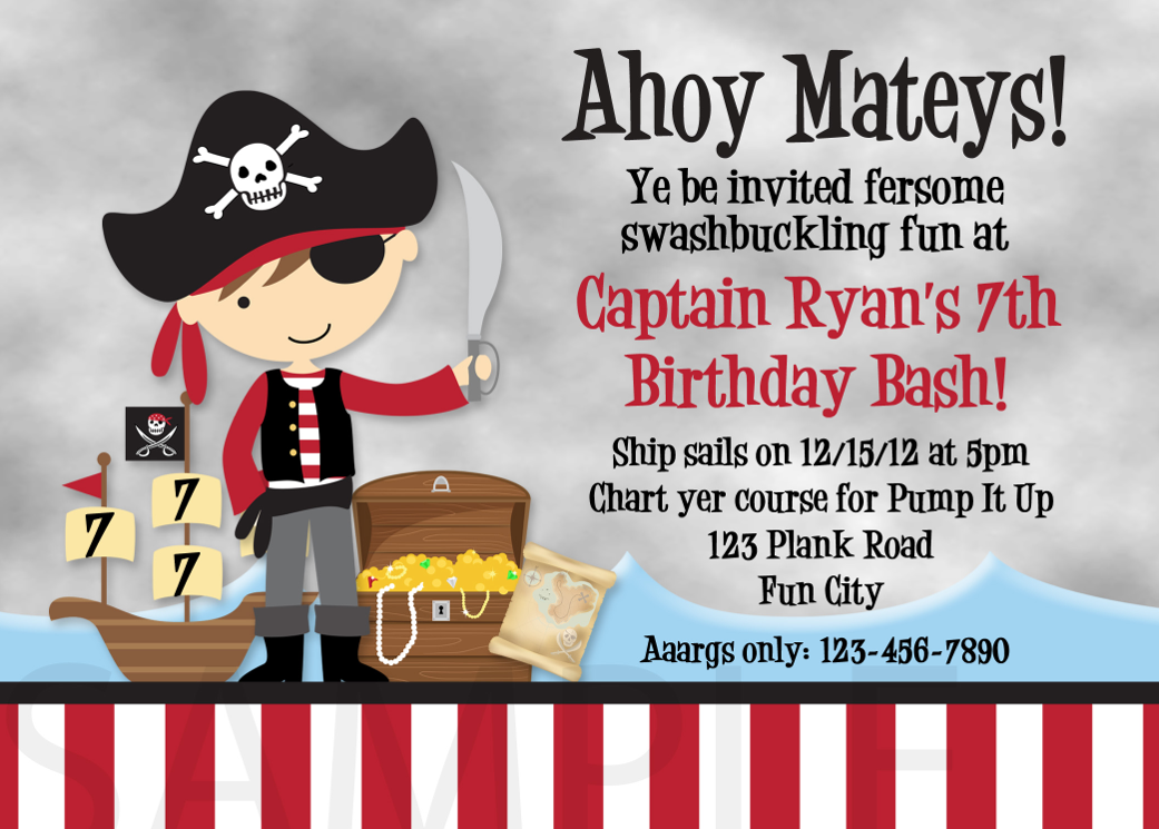 4th Birthday Party Invitations Boy