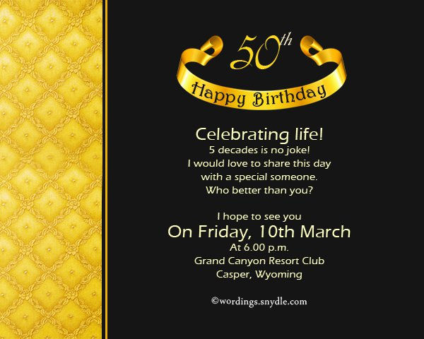 50 Birthday Invitations For Her