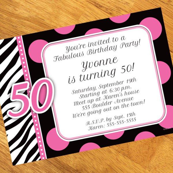 50 Fabulous Birthday Invitation Wording
