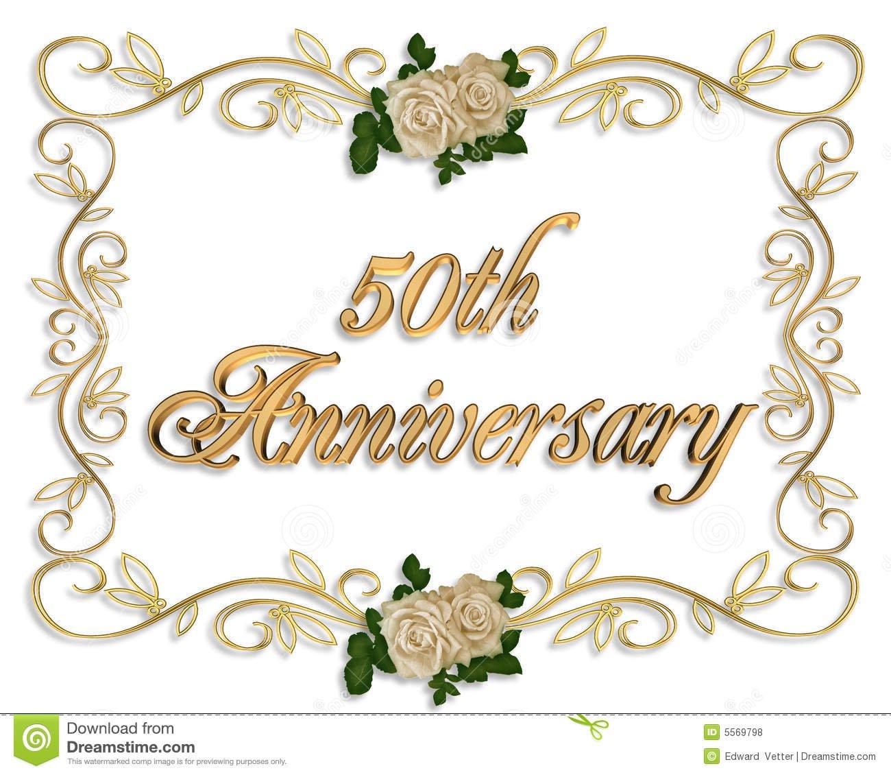 50th Anniversary Invitation Background