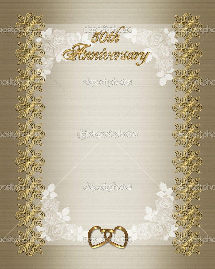 50th Anniversary Invitation Backgrounds