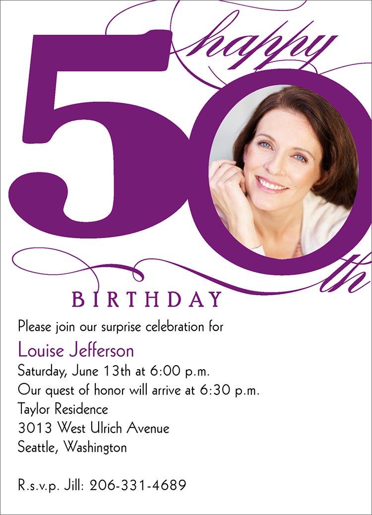 50th Birthday Invitation Ideas Funny