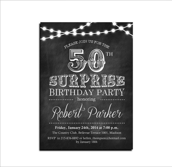 50th Birthday Invitation Wording Examples