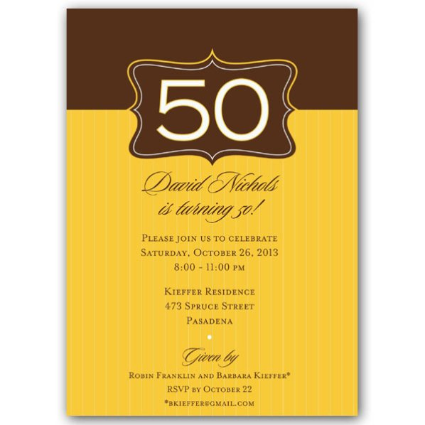 Birthday Invitation Wording Samples – 50th Birthday Invitation Wording