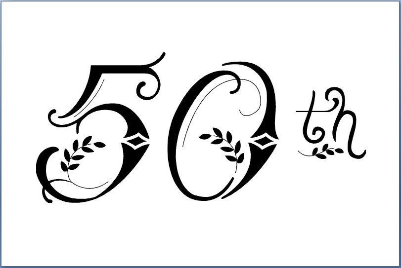 50th Birthday Invitations Templates Free Printable