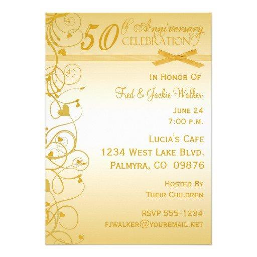 50th Wedding Anniversary Party Invitation Ideas