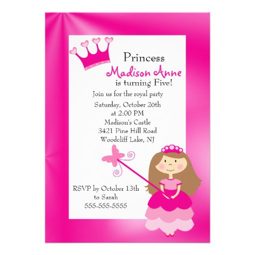 5th Birthday Invitation Wording