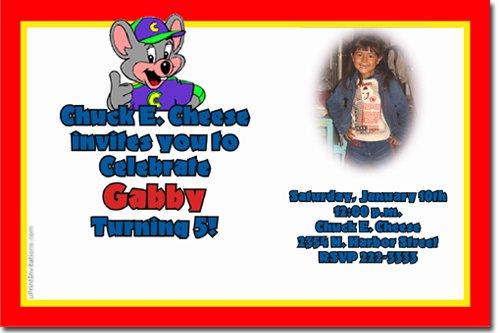 5th Birthday Party Invitation Wording Chuck E Cheese