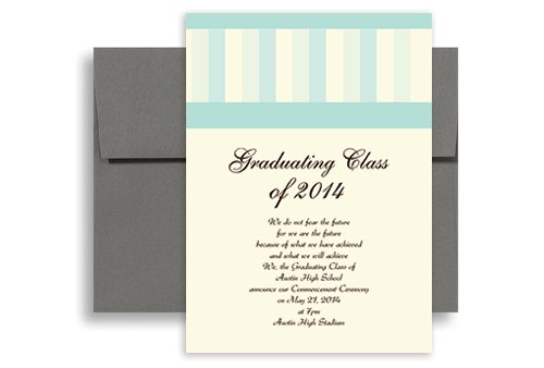 5x7 Graduation Invitation Template