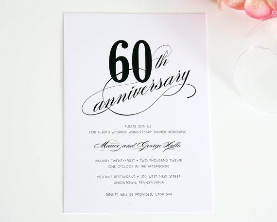 60 Wedding Anniversary Invitation Wording