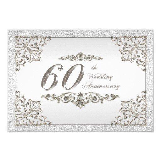 60 Wedding Anniversary Invitations
