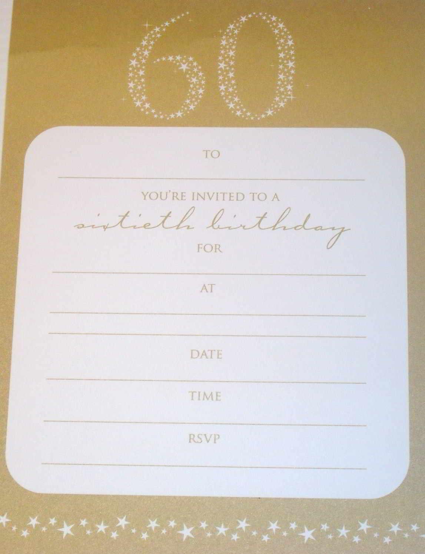 60th Birthday Invitation Printable