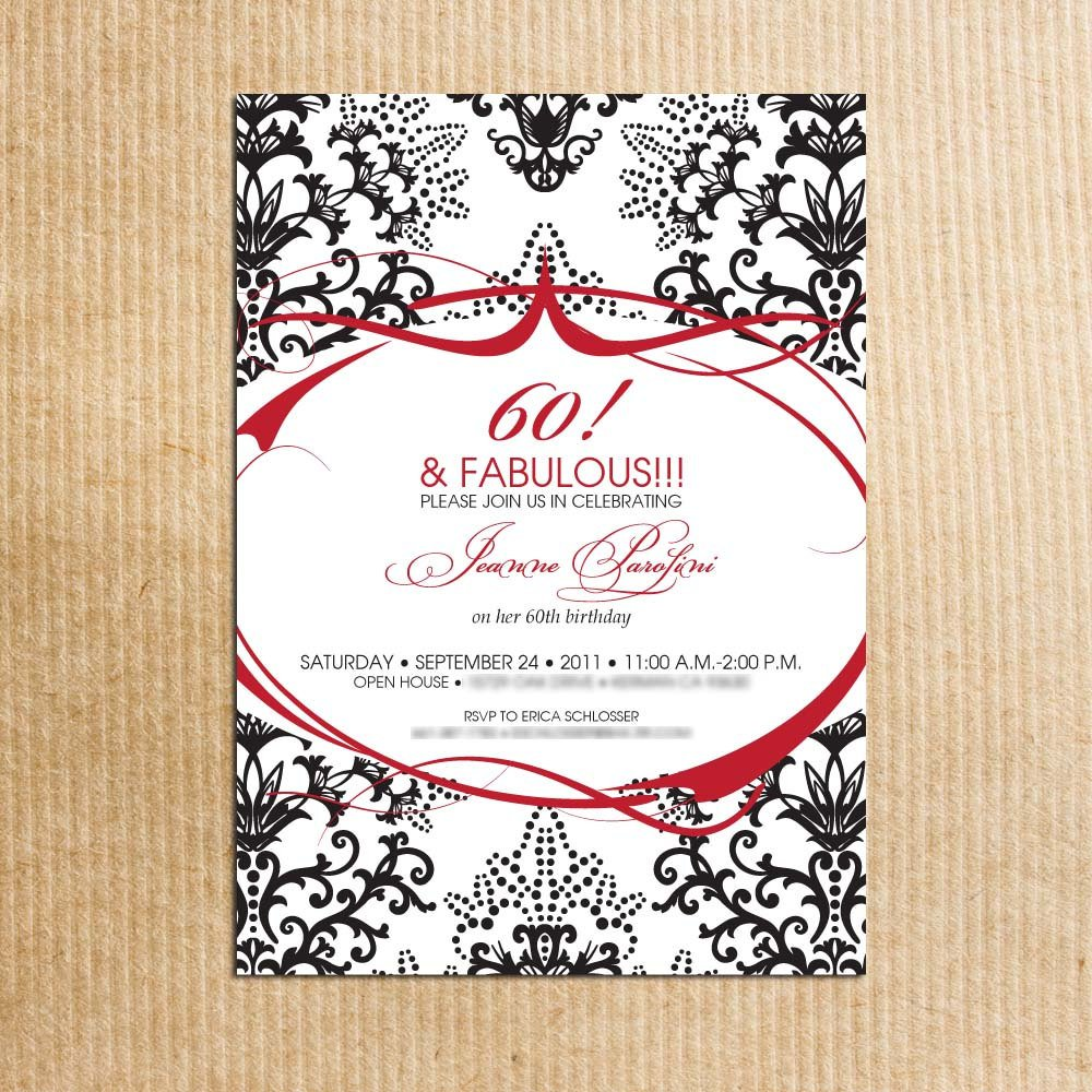 60th Birthday Invitations For Female