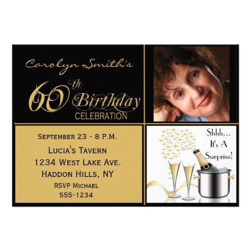 60th Birthday Invitations Free Printable