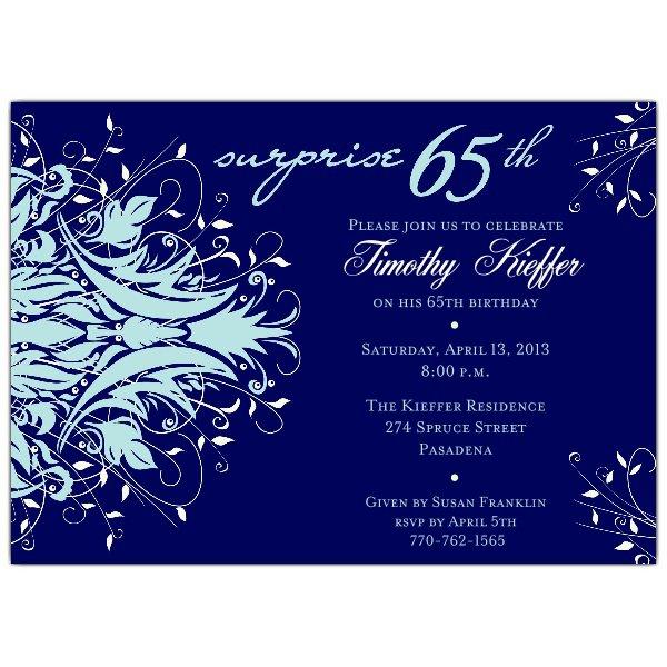 65th Birthday Invitation Printable