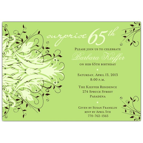 65th Birthday Invitation Wording