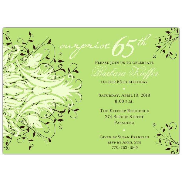 65th Birthday Invitation Sayings