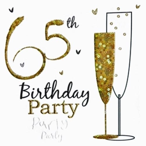 65th Birthday Party Invitations Cards