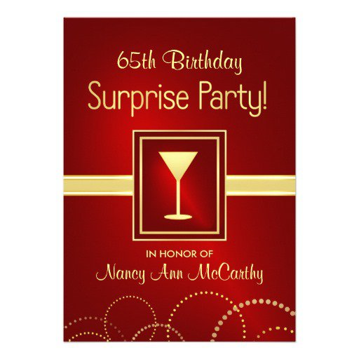 65th Birthday Party Invitations Free