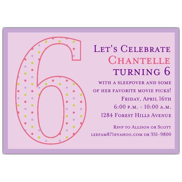 6th Birthday Invitation Wording Ideas