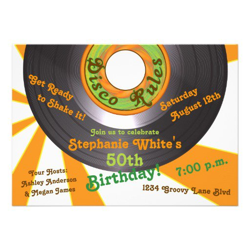 70s Party Invitations Templates