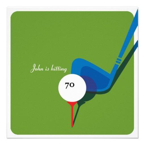 70th Birthday Golf Invitations