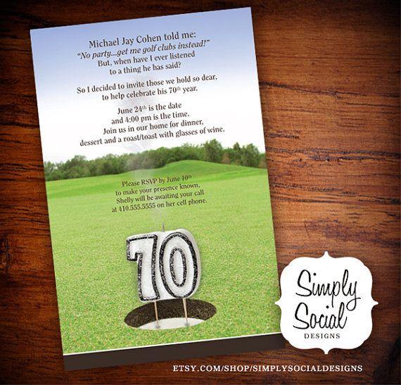 70th Golf Invitations
