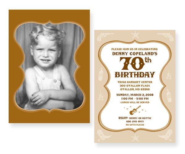 70th Invitations