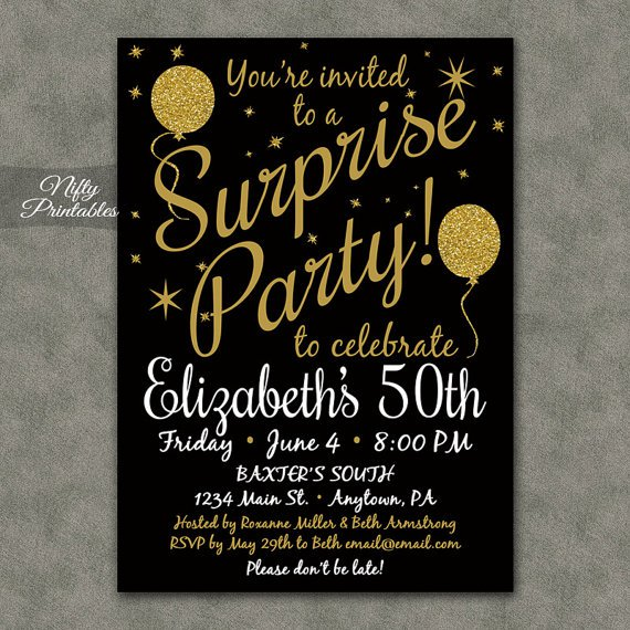 70th Surprise Party Invitations