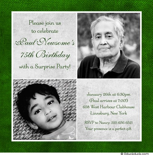 75th Birthday Party Invitations Free