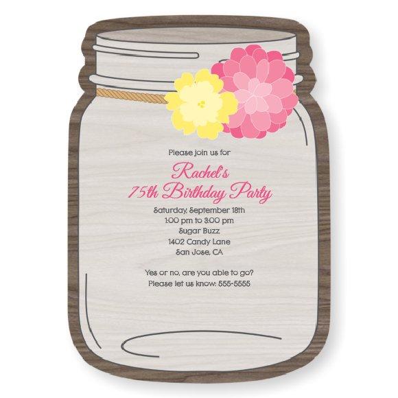 75th Birthday Party Invitations Printable
